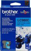 Brother LC-980C Cyan Ink Cartridge (Blauw)