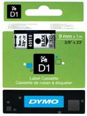 Dymo D1 Name Labels Black/White (9mm x 7m)