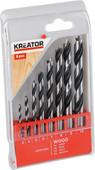 Kreator Wood drill set 8-parts 3-10mm
