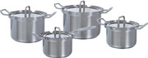 BK Q-linair Master Glass Cookware Set 4-piece