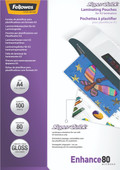 Fellowes Laminator covers SuperQuick 80 mic A4 (100 Pieces)