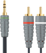 Bandridge 3,5 mm naar RCA Kabel 2 Meter