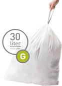 Simplehuman Afvalzakken Code G - 30 Liter (60 stuks)