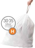 Simplehuman Trash Bags Code H - 30-35 Liters (60 units)