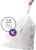 Simplehuman Afvalzakken Code K - 38 Liter (60 stuks)
