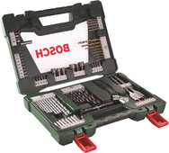 Bosch 83-piece Bit and Borenset with LED Flashlight