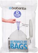 Brabantia Vuilniszakken Code D - 15-20 Liter (40 stuks)