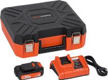 Powerplus Dual Power Acculader + Accu 20V 1,5 Ah Li-Ion