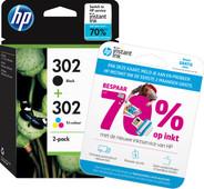 HP 302 Ink Cartridge Combo-pack (X4D37AE)
