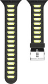 Just in Case Soft Strap for Apple Watch 38 / 40mm Rubber Strap Black / Yellow