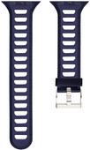 Just in Case Soft Strap for Apple Watch 38 / 40mm Rubber Strap Blue / White
