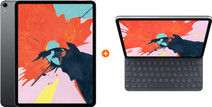 Apple iPad Pro (2018) 11 inch 64 GB Wifi Space Gray + Apple Smart Keyboard Folio QWERTY