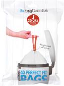 Brabantia Garbage bags Code J - 20-25 Liter (40 pieces)