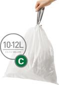 Simplehuman Afvalzakken Code C - 10-12 Liter (60 stuks)