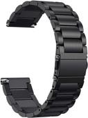 Just in Case Fitbit Versa RVS Horlogeband Zwart