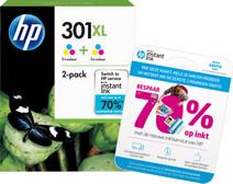 HP 301XL 3 kleuren Twin Pack (D8J46AE)