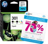 HP 301 Ink Cartridge 3-Pack