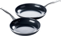 GreenPan Brussels ceramic skillet set 24 cm + 28 cm