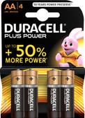 Duracell Plus Power alkaline AA batteries 4 pieces