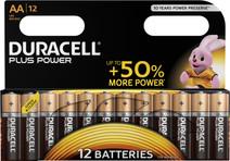 Duracell Plus Power alkaline AA batteries 12 pieces