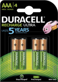 Duracell Recharge Ultra AAA batteries 4 pieces