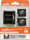 Jupio Kit: Battery GoPro HERO5/6/7 & HERO (2018) accu (2x) + USB Triple Charger