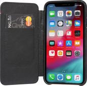 Decoded Leather Slim Wallet Apple iPhone X/Xs Book Case Zwart