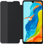 Huawei P30 Lite View Flip Cover Book Case Zwart
