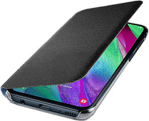 Samsung Galaxy A40 Wallet Cover Book Case Black