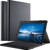 Just in Case Premium Lenovo Tab E10 Book Case Zwart QWERTY