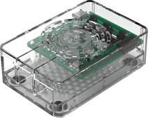 Multicomp Pro Raspberry Pi 4 behuizing - Power knop - Doorzichtig