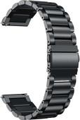 Just in Case Samsung Galaxy Watch Active Metalen Bandje Zwart