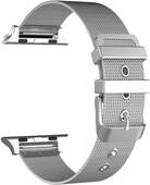 Just in Case Apple Watch 42/44mm Mesh Bandje Zilver