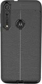 Just in Case Soft Design TPU Motorola One Macro Back Cover Zwart