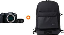 Canon EOS RP + EF-EOS R Adapter + Crumpler Double Lux Rugzak