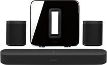 Sonos Beam 5.1 + One (x2) + Sub Zwart