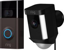 Ring Video Deurbel 2 + Ring Spotlight Cam