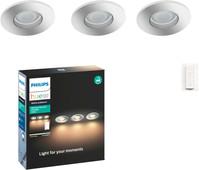 Philips Hue Adore Badkamer Inbouwspot 3-Pack + Draadloze Dimmer