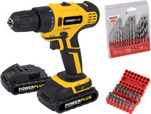 Powerplus POWX0069LI + Kreator Drill Set and Drill Bit Set