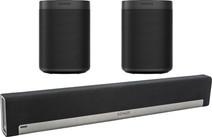 Sonos Playbar 5.0 + One SL (2x) Zwart