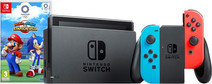 Nintendo Switch (2019 upgrade) rood/blauw + Mario&Sonic op de Olympische Spelen: Tokyo2020