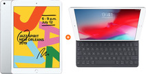 Apple iPad (2019) 128 GB Wifi Zilver + Smart Keyboard