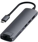 Satechi Type-C Slim Multi-port Ethernet Adapter Gray