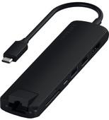 Satechi Type-C Slim Multi-port Ethernet Adapter Black