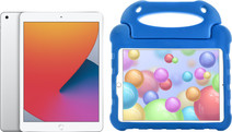 Apple iPad (2020) 10.2 inches Silver 128GB WiFi Silver + Kids Cover Blue