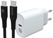 XtremeMac Power Delivery Oplader 30W Wit + Usb C Kabel 1,5m Kunststof Zwart Samsung opladers