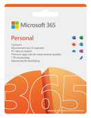 Microsoft 365 Personal EN Abonnement 1 jaar Microsoft Office voor prive gebruik