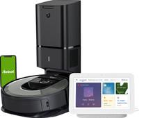 iRobot Roomba i7+ + Google Nest Hub 2 Chalk