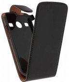 Xccess Leather Flip Case for Samsung Galaxy Xcover 2 Black