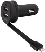 Xqisit Car Charger Dual USB 6Ah Lightning
